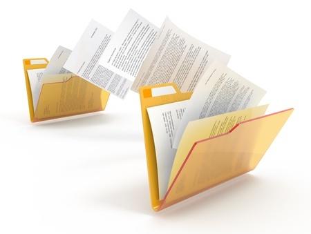 מסמכים עוברים מתיקיה לתיקיה