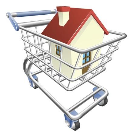בית בעגלת קניות