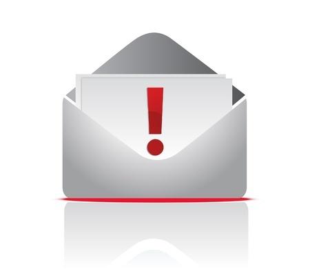 מעטפה עם מכתב ועליו סימן קריאה