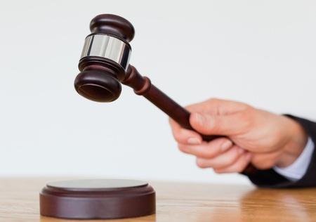 פטיש של שופט בדפיקה