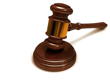 פטיש בית משפט בצבע חום
