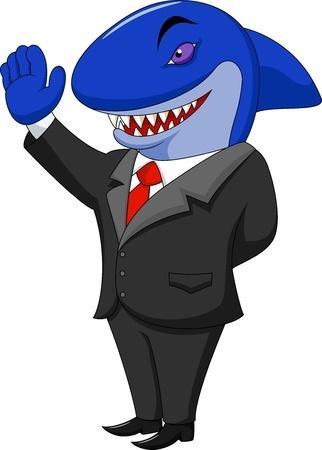 איש אלגנטי עם ראש כריש
